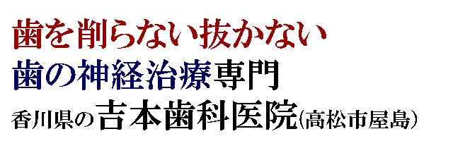 香川県高松市で削らない歯医者をお探しなら|歯の神経治療・歯を残す治療・削らない虫歯治療を専門とした吉本歯科医院